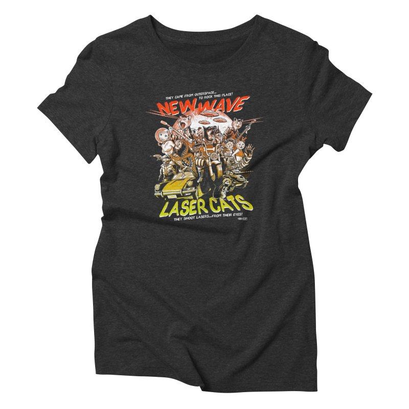 New wave laser cats Women's Triblend T-Shirt by Gimetzco's Damaged Goods