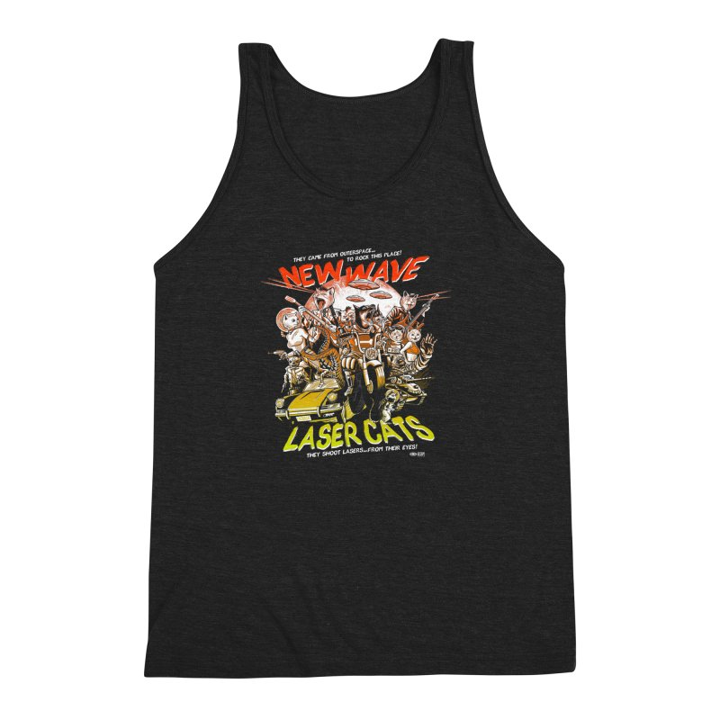 New wave laser cats Men's Triblend Tank by Gimetzco's Damaged Goods