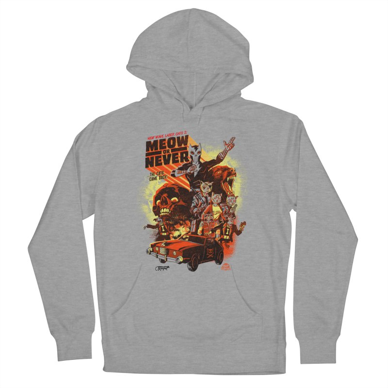 New wave laser cats 2: meow or never Men's Pullover Hoody by Gimetzco's Damaged Goods