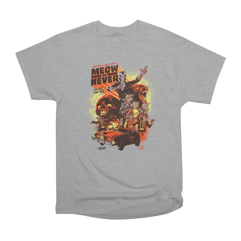 New wave laser cats 2: meow or never Women's Heavyweight Unisex T-Shirt by Gimetzco's Damaged Goods