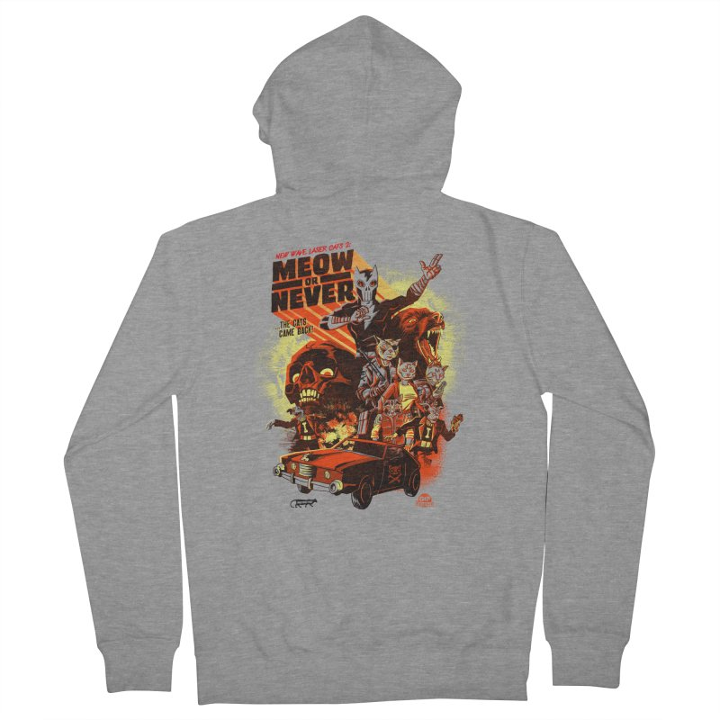 New wave laser cats 2: meow or never Men's Zip-Up Hoody by Gimetzco's Damaged Goods