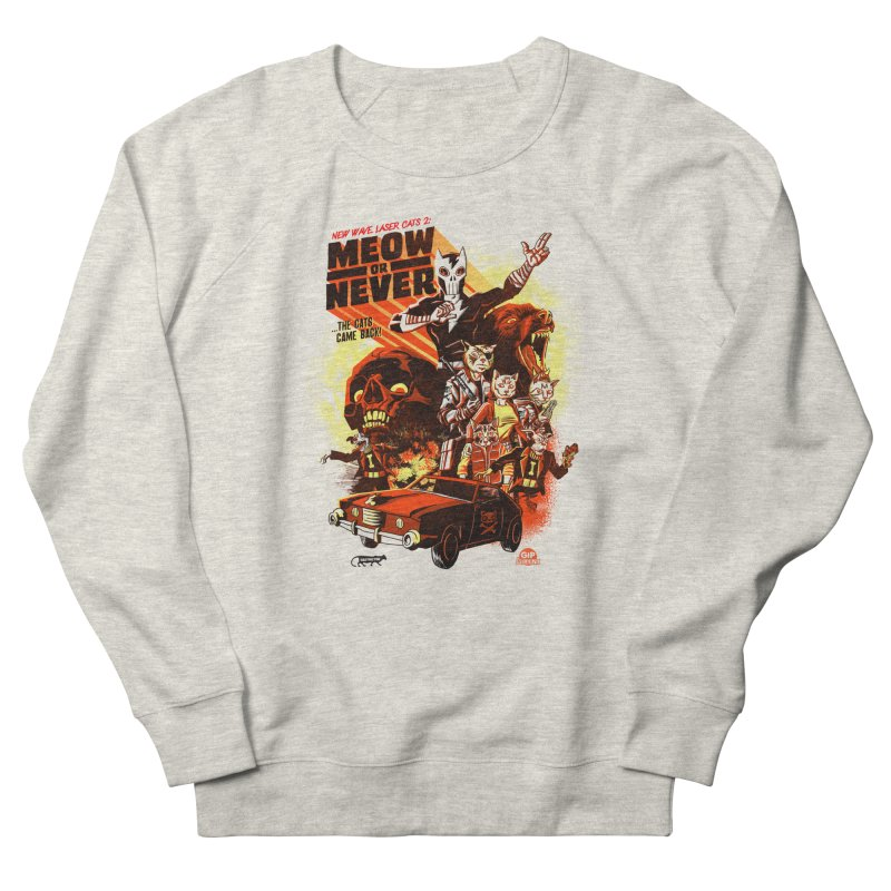 New wave laser cats 2: meow or never Men's French Terry Sweatshirt by Gimetzco's Damaged Goods