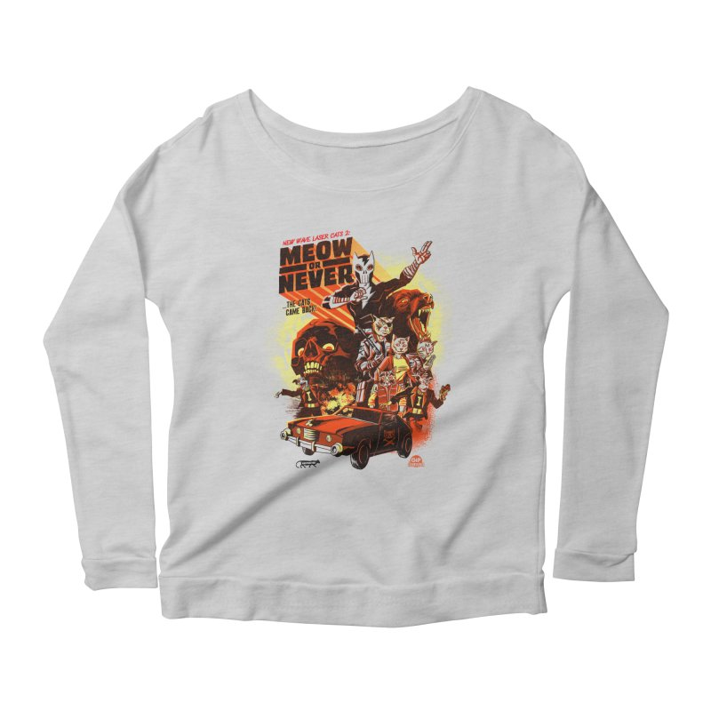 New wave laser cats 2: meow or never Women's Scoop Neck Longsleeve T-Shirt by Gimetzco's Damaged Goods