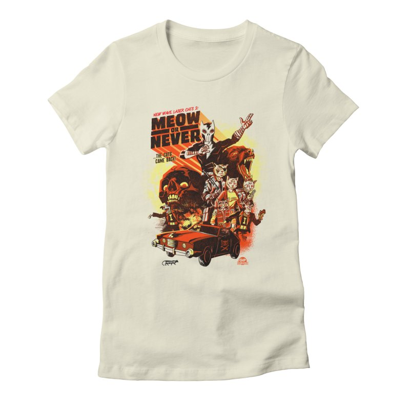 New wave laser cats 2: meow or never Women's Fitted T-Shirt by Gimetzco's Damaged Goods
