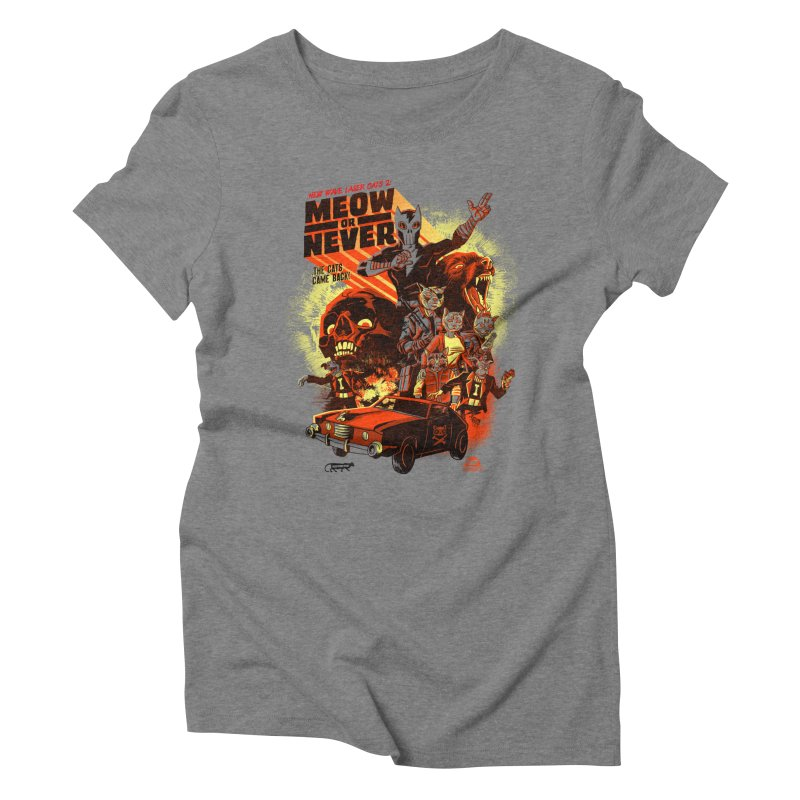 New wave laser cats 2: meow or never Women's Triblend T-Shirt by Gimetzco's Damaged Goods