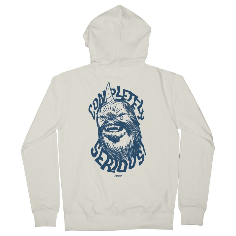 Completely Serious Men's French Terry Zip-Up Hoody by Gimetzco's Damaged Goods