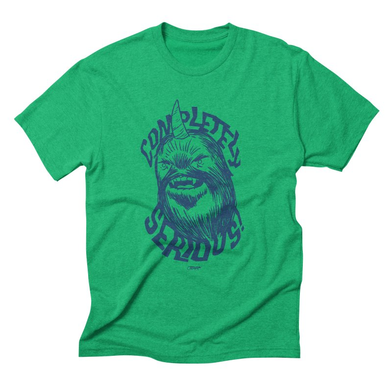 Completely Serious Men's Triblend T-Shirt by Gimetzco's Damaged Goods
