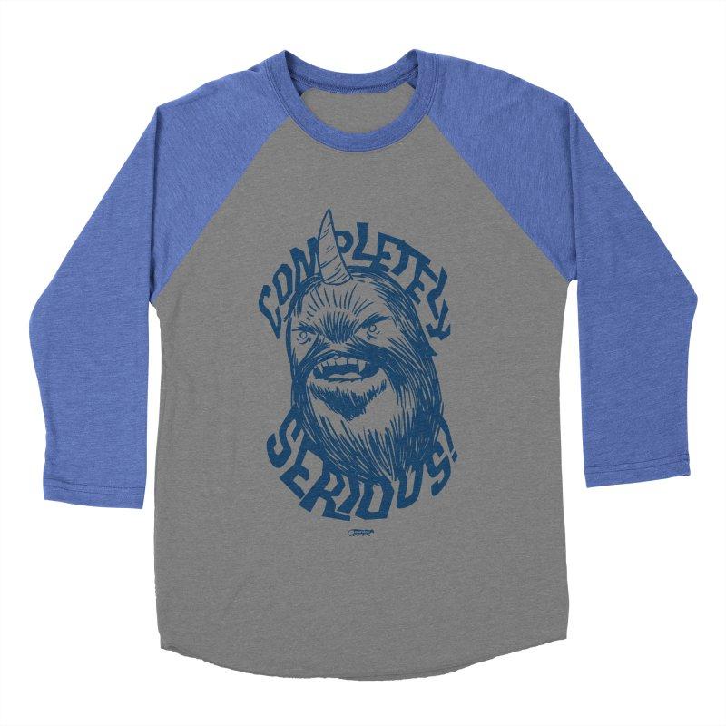 Completely Serious Women's Baseball Triblend T-Shirt by Gimetzco's Damaged Goods