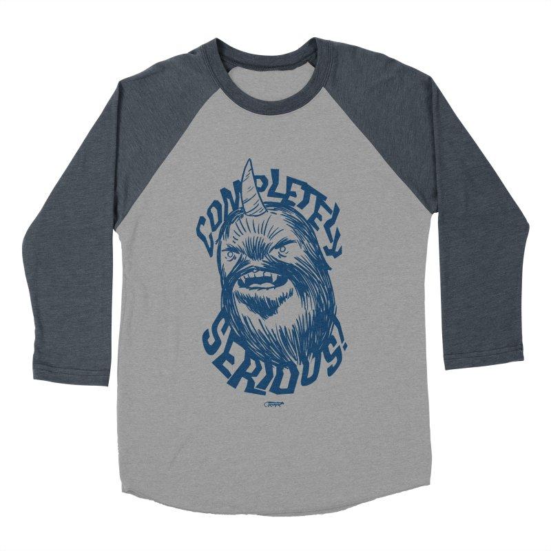 Completely Serious Men's Baseball Triblend Longsleeve T-Shirt by Gimetzco's Damaged Goods