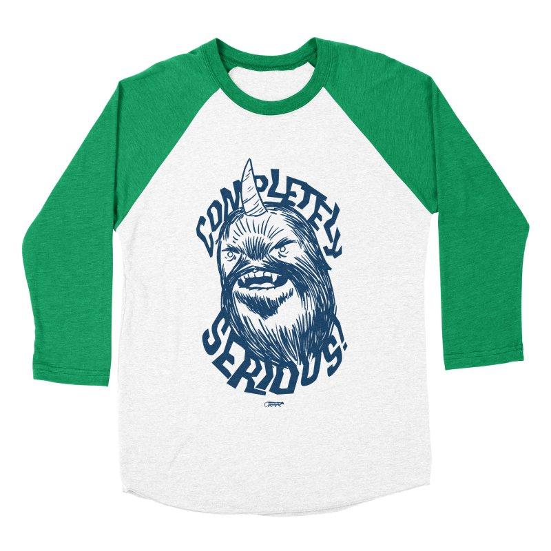 Completely Serious Men's Baseball Triblend T-Shirt by Gimetzco's Damaged Goods