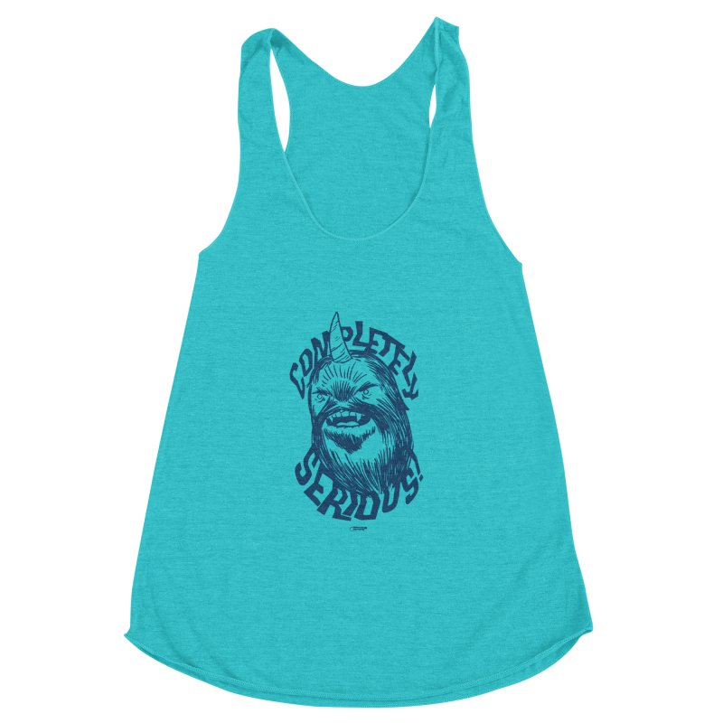 Completely Serious Women's Racerback Triblend Tank by Gimetzco's Damaged Goods