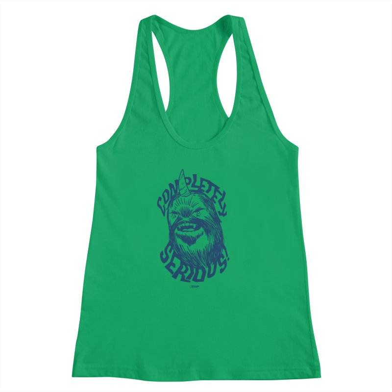 Completely Serious Women's Racerback Tank by Gimetzco's Damaged Goods