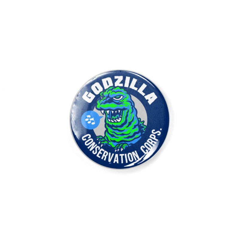 Godzilla Conservation Corps. Accessories Button by Gimetzco's Damaged Goods