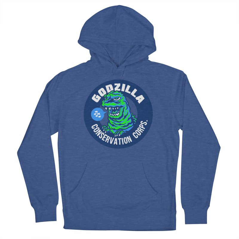 Godzilla Conservation Corps. Women's French Terry Pullover Hoody by Gimetzco's Damaged Goods