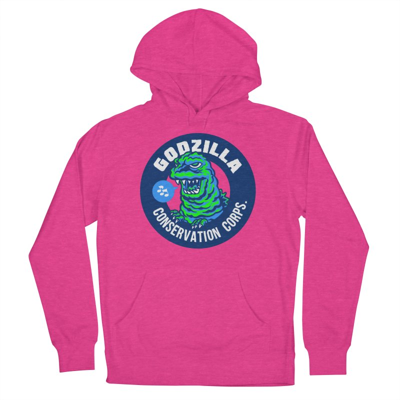 Godzilla Conservation Corps. Men's French Terry Pullover Hoody by Gimetzco's Damaged Goods