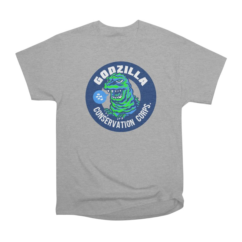 Godzilla Conservation Corps. Men's Heavyweight T-Shirt by Gimetzco's Damaged Goods