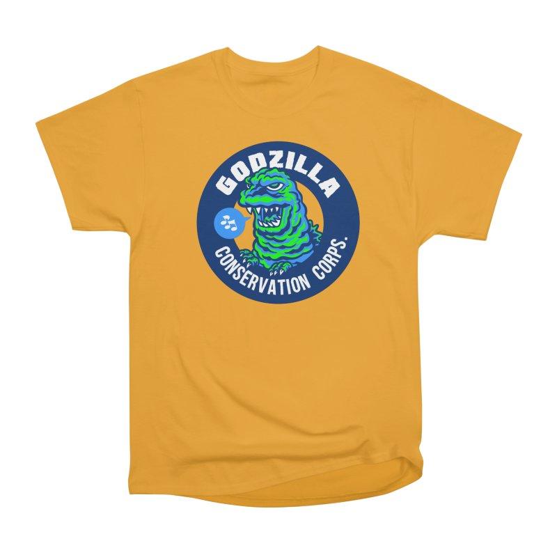Godzilla Conservation Corps. Women's Heavyweight Unisex T-Shirt by Gimetzco's Damaged Goods