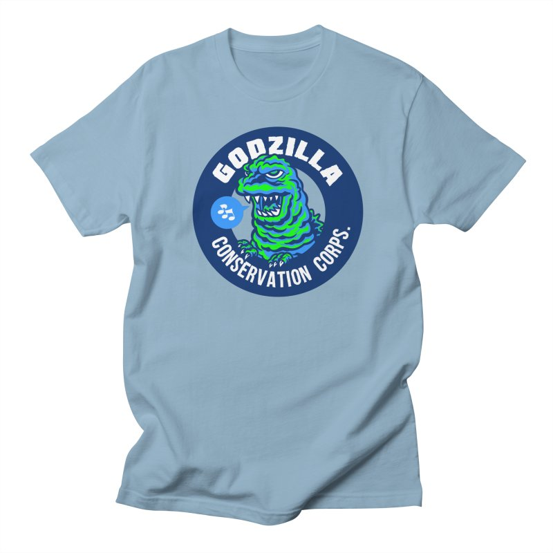 Godzilla Conservation Corps. Men's Regular T-Shirt by Gimetzco's Damaged Goods