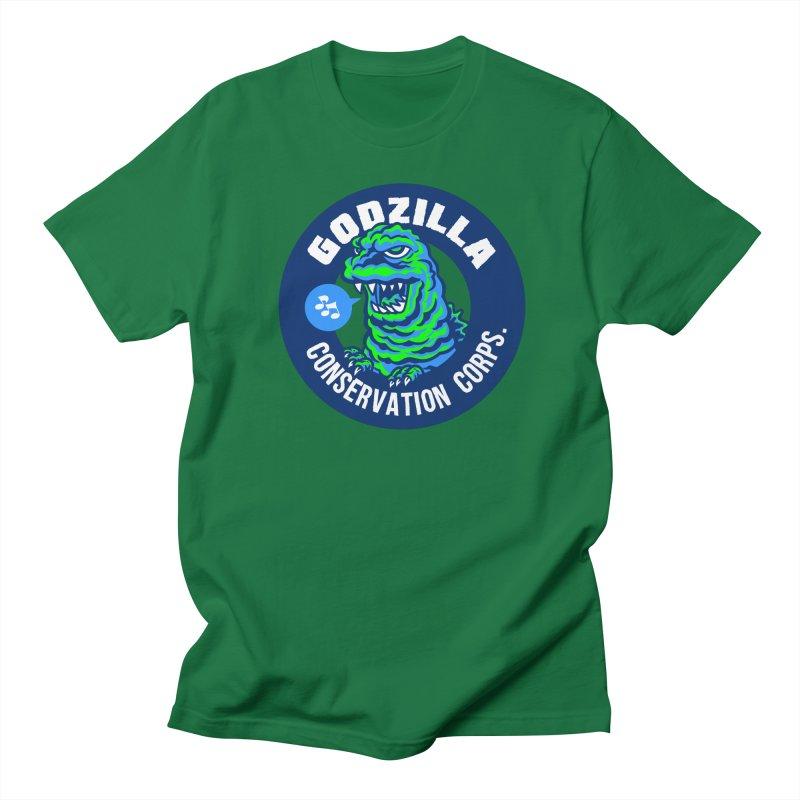 Godzilla Conservation Corps. Men's Regular T-Shirt by Gimetzco's Damaged Goods