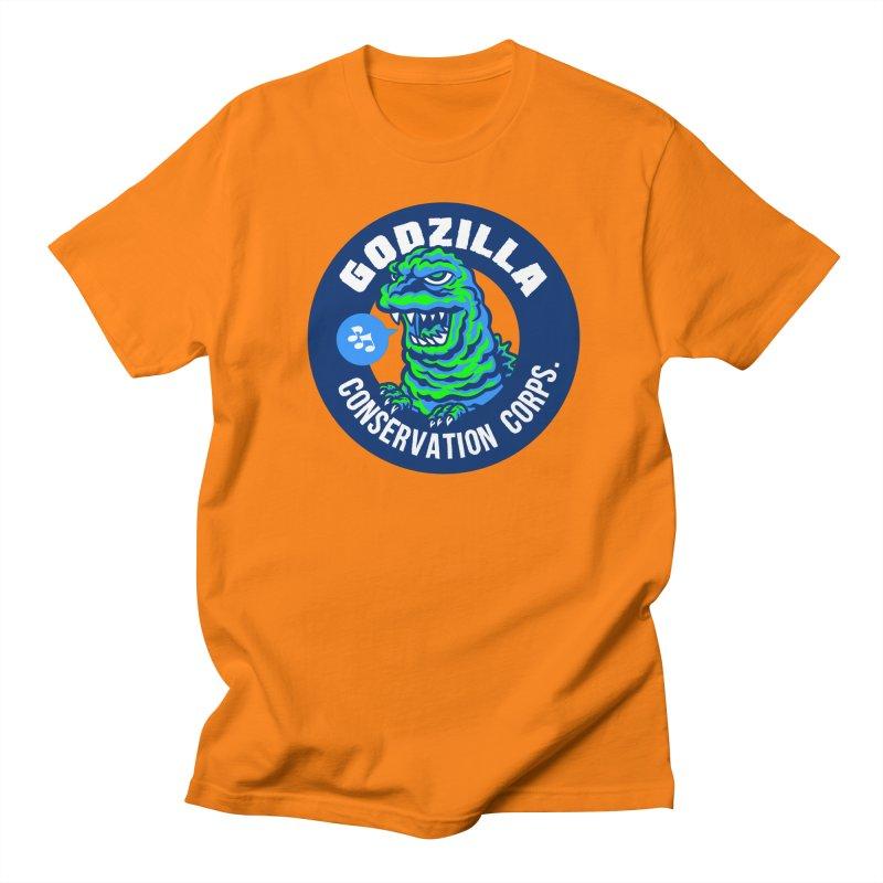 Godzilla Conservation Corps. Women's Regular Unisex T-Shirt by Gimetzco's Damaged Goods