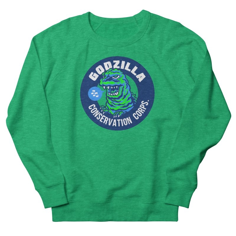 Godzilla Conservation Corps. Women's French Terry Sweatshirt by Gimetzco's Damaged Goods