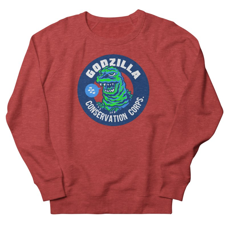 Godzilla Conservation Corps. Men's French Terry Sweatshirt by Gimetzco's Damaged Goods