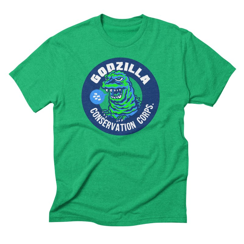 Godzilla Conservation Corps. in Men's Triblend T-Shirt Tri-Kelly by Gimetzco's Damaged Goods
