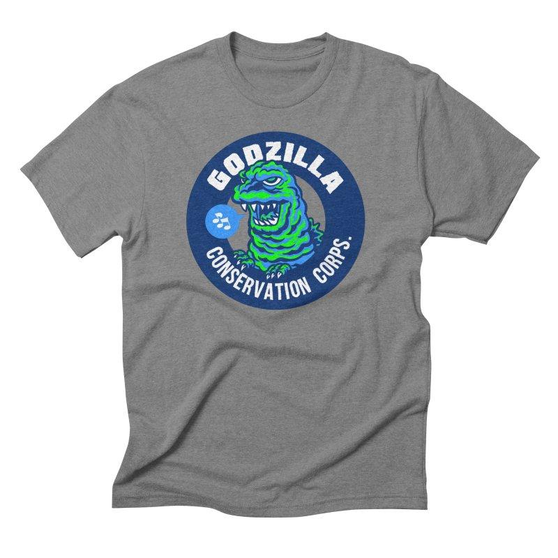 Godzilla Conservation Corps. Men's Triblend T-Shirt by Gimetzco's Damaged Goods