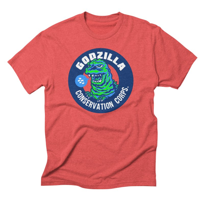 Godzilla Conservation Corps. Men's Triblend T-Shirt by Gimetzco's Damaged Goods