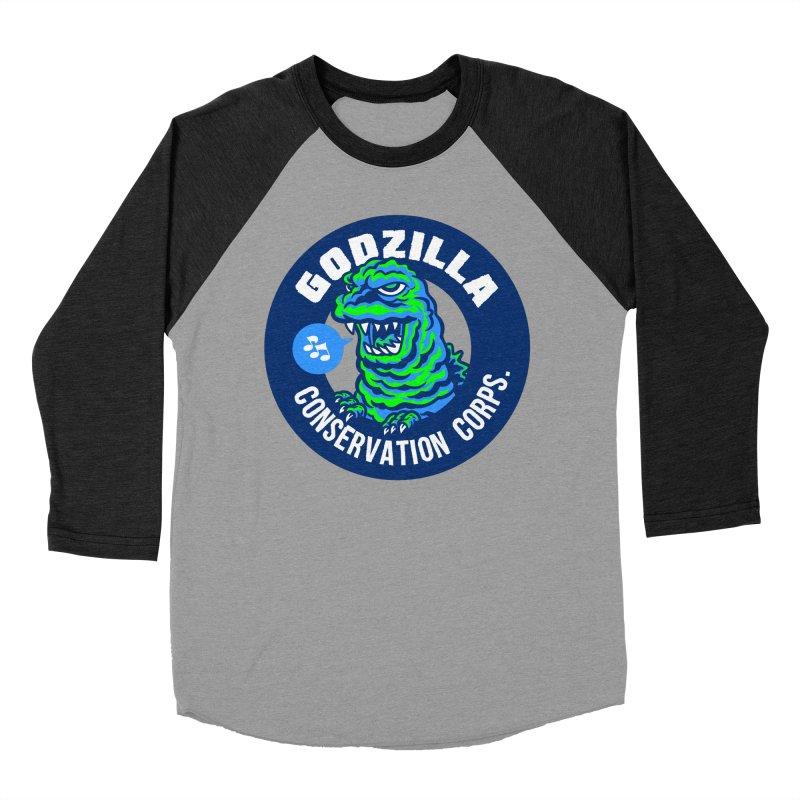 Godzilla Conservation Corps. Women's Baseball Triblend Longsleeve T-Shirt by Gimetzco's Damaged Goods