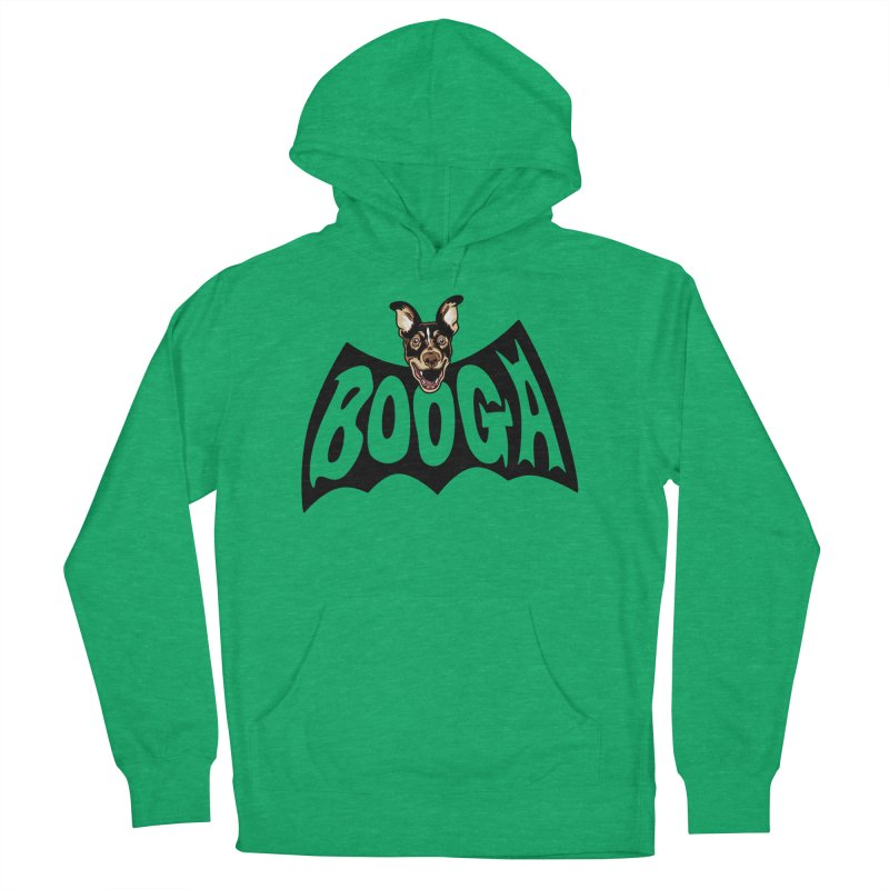 Booga in a batshape Women's French Terry Pullover Hoody by Gimetzco's Damaged Goods
