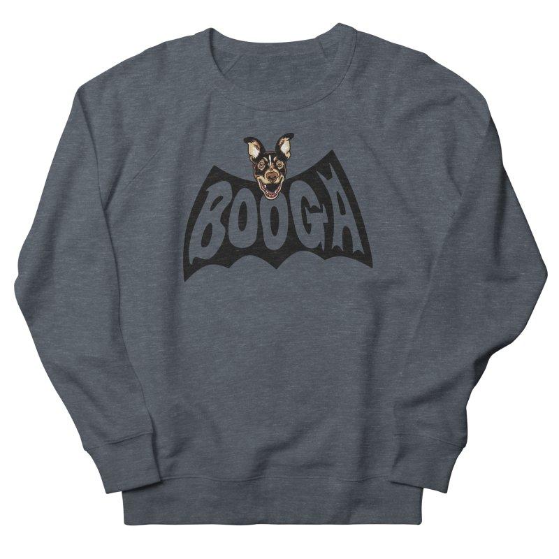 Booga in a batshape Women's French Terry Sweatshirt by Gimetzco's Damaged Goods