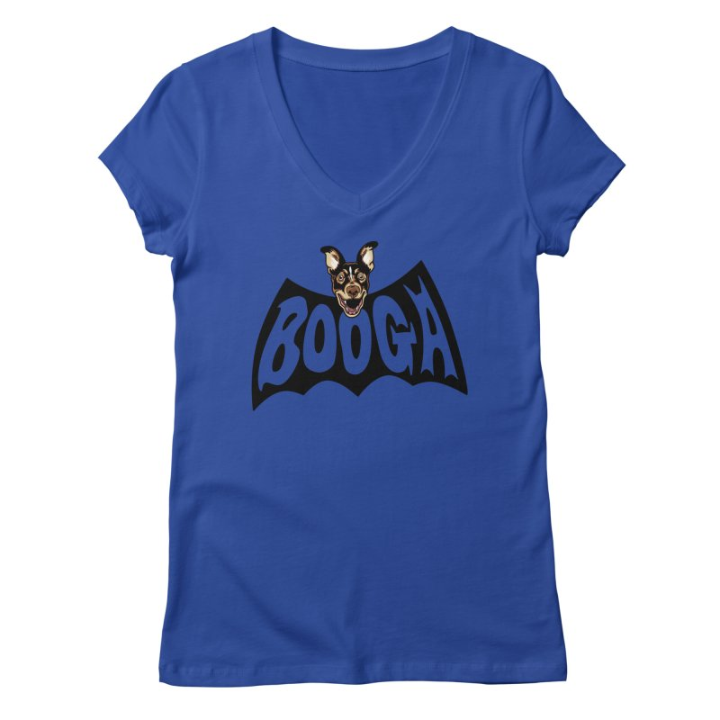 Booga in a batshape Women's Regular V-Neck by Gimetzco's Damaged Goods