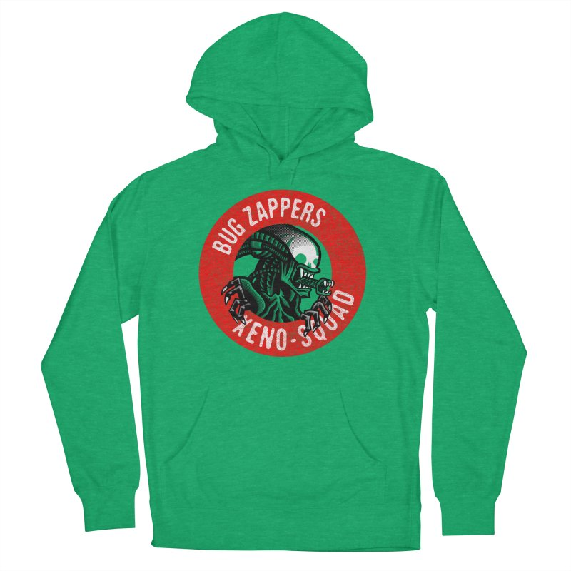Bug Zappers Women's French Terry Pullover Hoody by Gimetzco's Damaged Goods