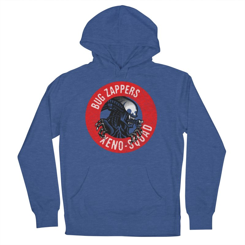 Bug Zappers Men's French Terry Pullover Hoody by Gimetzco's Damaged Goods