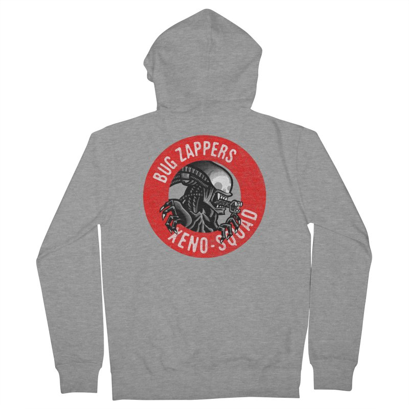 Bug Zappers Women's French Terry Zip-Up Hoody by Gimetzco's Damaged Goods