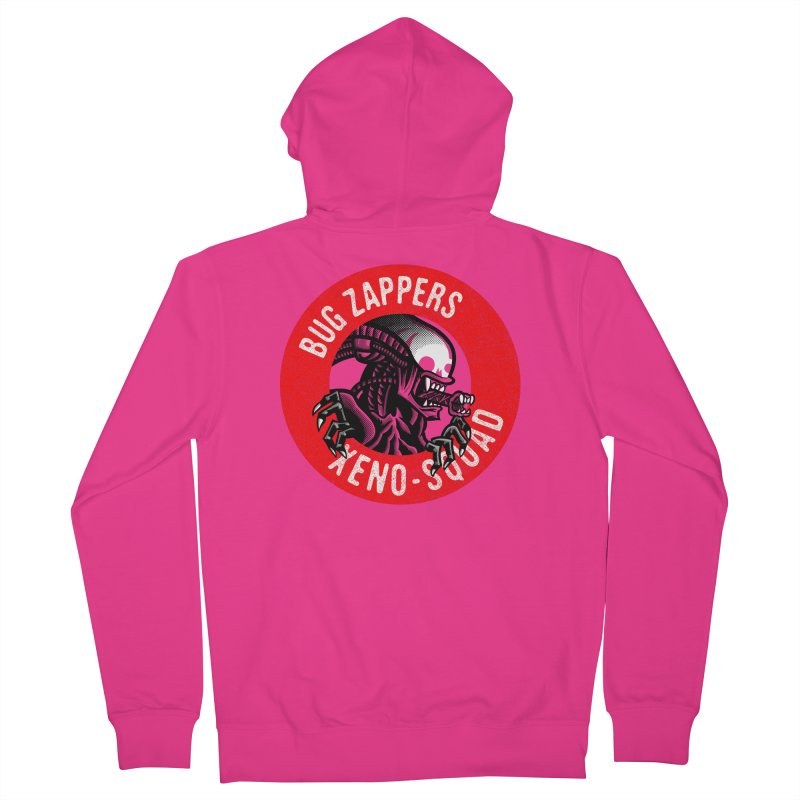 Bug Zappers Men's French Terry Zip-Up Hoody by Gimetzco's Damaged Goods