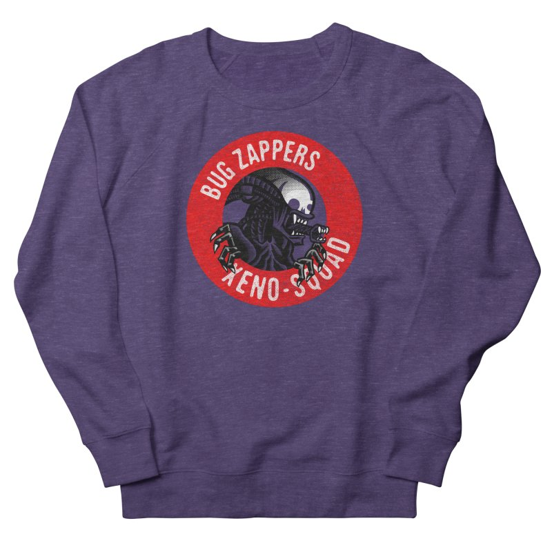 Bug Zappers Women's French Terry Sweatshirt by Gimetzco's Damaged Goods