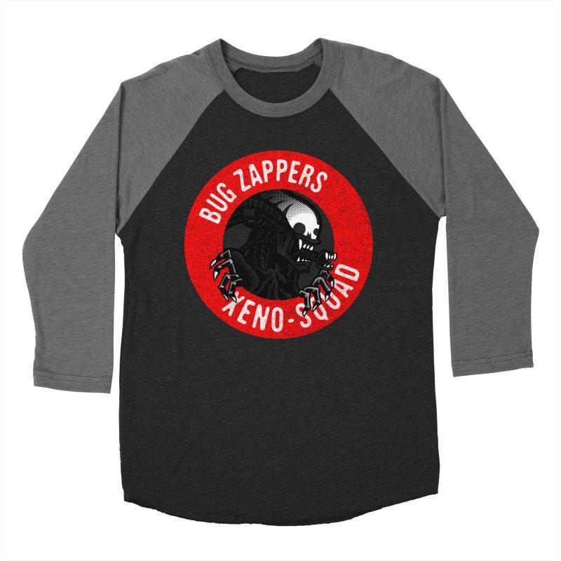 Bug Zappers Women's Baseball Triblend Longsleeve T-Shirt by Gimetzco's Damaged Goods