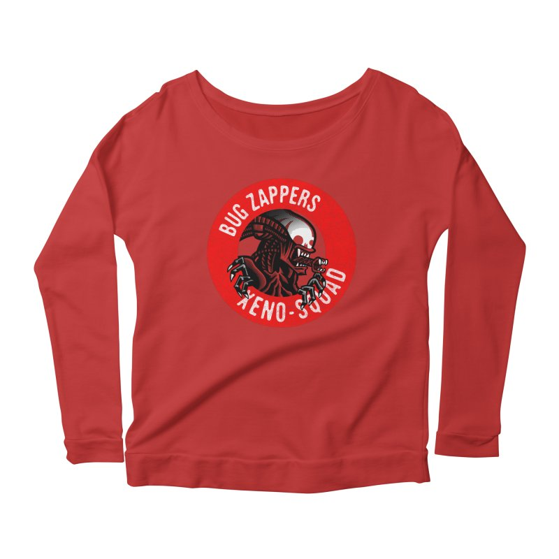 Bug Zappers Women's Scoop Neck Longsleeve T-Shirt by Gimetzco's Damaged Goods