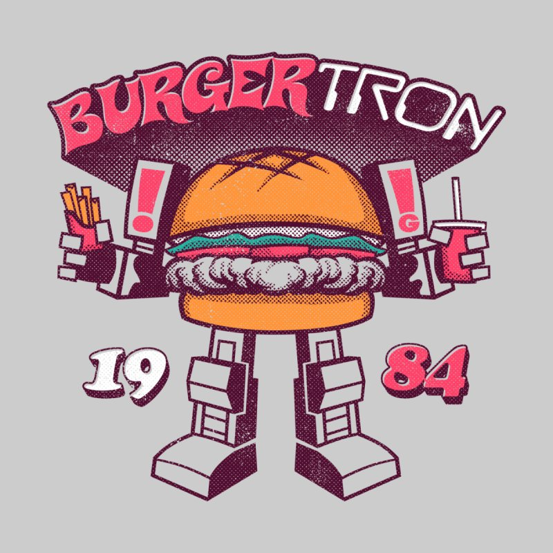 BurgerTRON '84 Men's T-Shirt by Gimetzco's Artist Shop