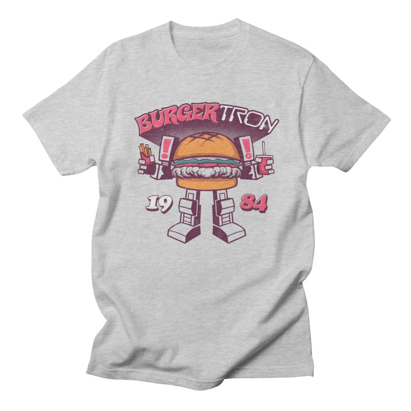 BurgerTRON '84 in Men's T-shirt Heather Grey by Gimetzco's Artist Shop