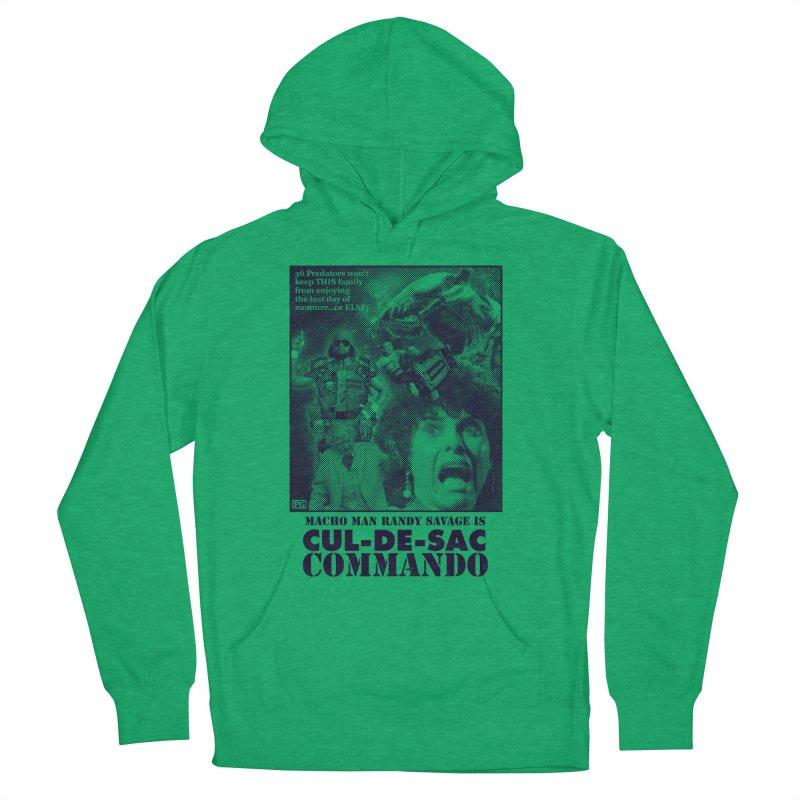 CUL-DE-SAC COMMANDO Men's French Terry Pullover Hoody by Gimetzco's Damaged Goods