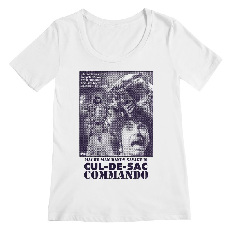 CUL-DE-SAC COMMANDO Women's Regular Scoop Neck by Gimetzco's Damaged Goods