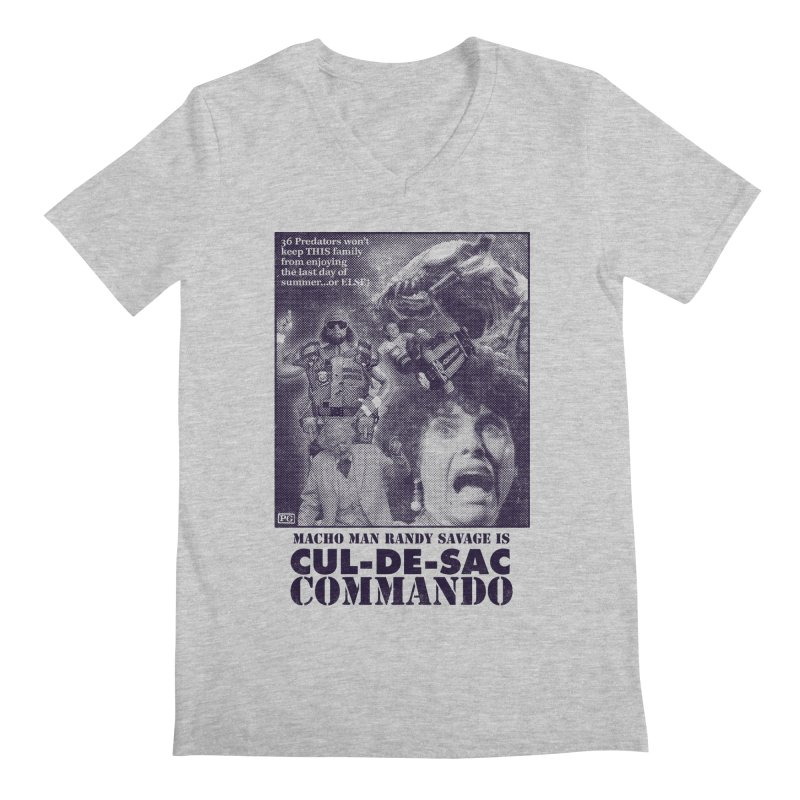 CUL-DE-SAC COMMANDO Men's Regular V-Neck by Gimetzco's Damaged Goods