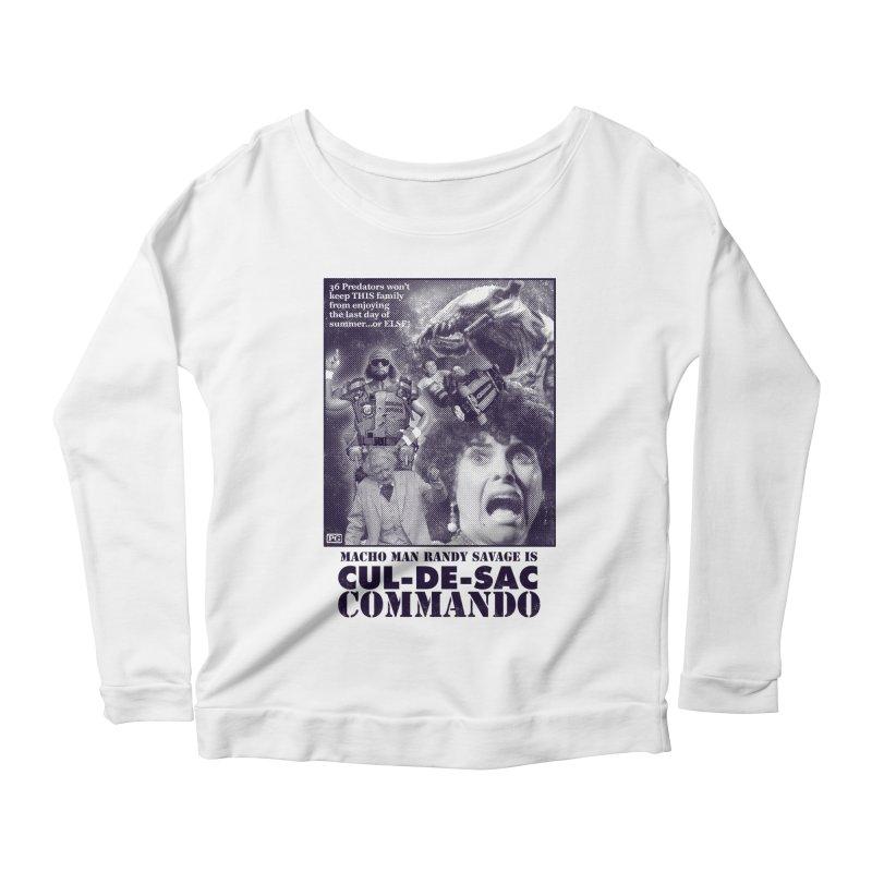 CUL-DE-SAC COMMANDO Women's Scoop Neck Longsleeve T-Shirt by Gimetzco's Damaged Goods