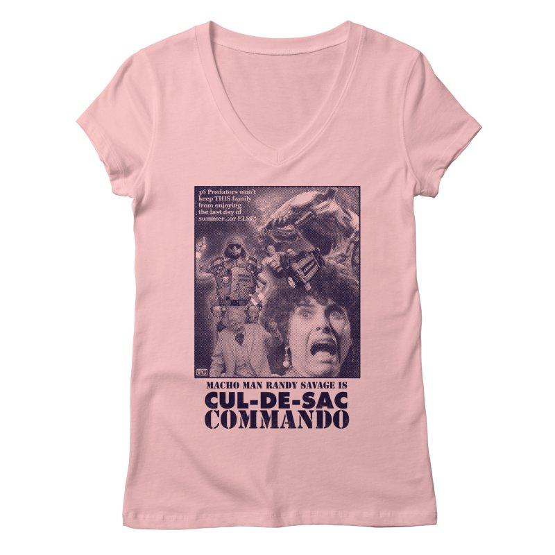 CUL-DE-SAC COMMANDO Women's Regular V-Neck by Gimetzco's Damaged Goods