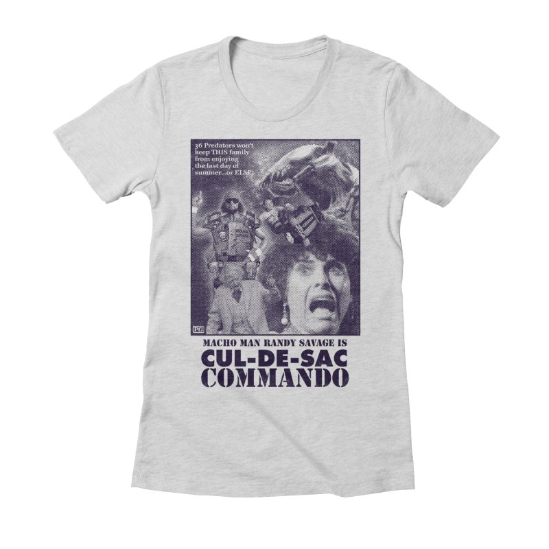 CUL-DE-SAC COMMANDO Women's Fitted T-Shirt by Gimetzco's Damaged Goods