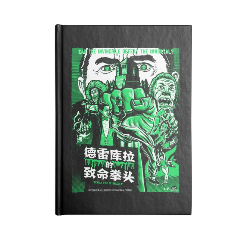 DEADLY FIST OF DRACULA Accessories Notebook by Gimetzco's Damaged Goods