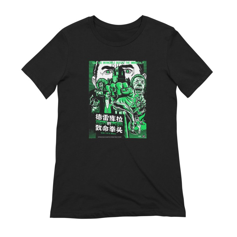 DEADLY FIST OF DRACULA Women's Extra Soft T-Shirt by Gimetzco's Damaged Goods